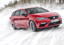 Seat Leon Cupra ST MY2017: come va la 4Drive sulla neve! [Video Primo Test]