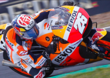 MotoGP 2017. Pedrosa chiude al comando le FP1 (bagnate) a Jerez